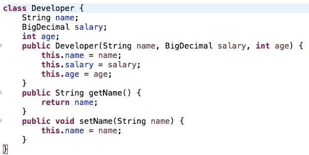 Developer class java
