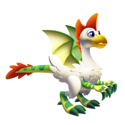 Appearance of Chicken Dragon when teenager