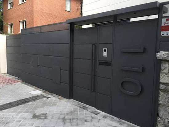 Diseño moderno de puertas portones de garaje