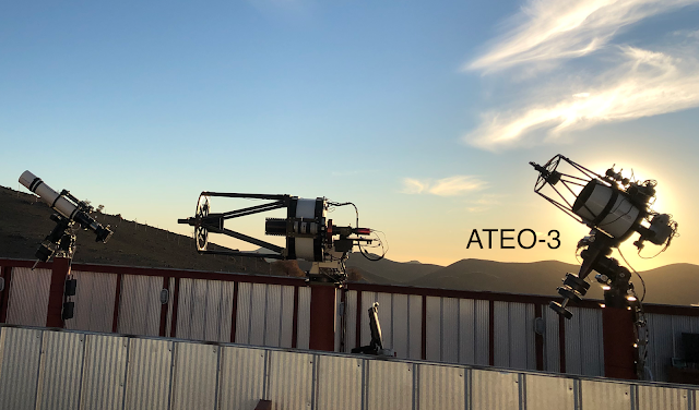 "12.5"" f/9 Quasar Ritchey Chretien, ATEO-3, affiliate remote telescope (pictured right) housed in a roll-off observatory at Deep Sky Chile remote telescope hosting facility. Photo by Franck Jobard."