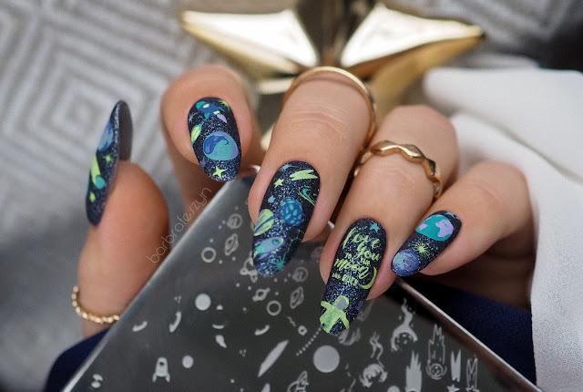 Kosmiczne paznokcie | Clear Jelly Stamper