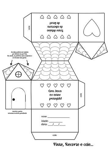 Moldes de casas para imprimir, recortar e montar ou