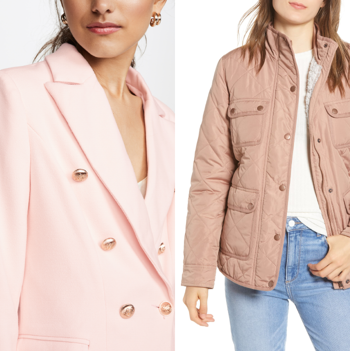 fall jacket trends 2019, pink blazer, fleece quilted jacket