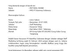 Contoh Surat Pernyataan Terlambat Masuk Kerja Bloggadogado