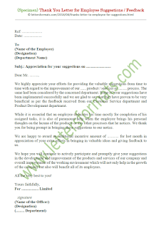 appreciation letter to employee sample