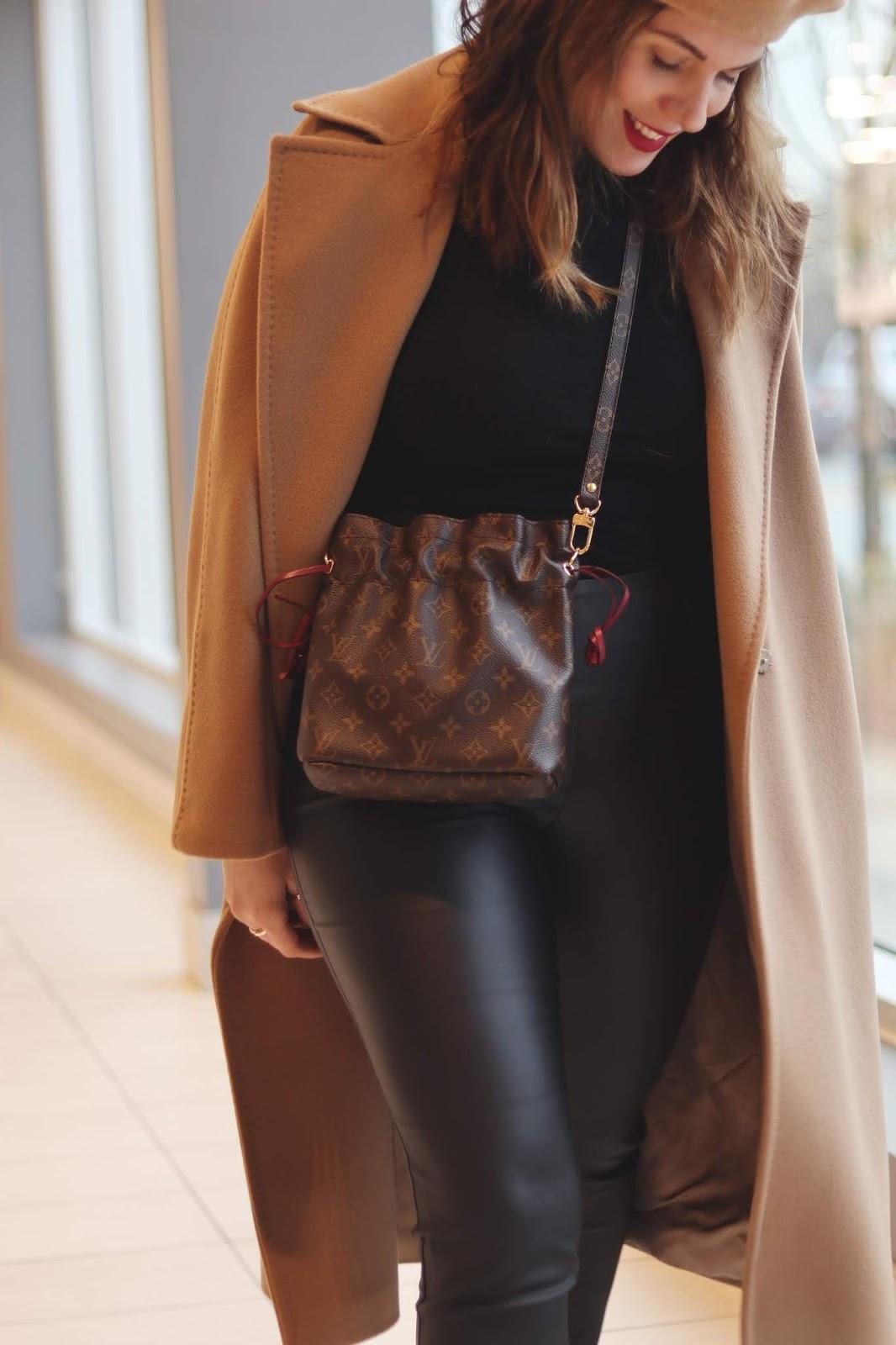 le chateau wax coated pants outfit max mara studio coat blogger lack of color beret