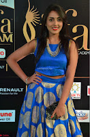 Madhu Shalini Looks Super Cute Slim trim Blue Choli Ghagra IIFA Utsavam Awards 03.JPG