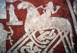 Sleipnir piedra rúnica, siglo VII