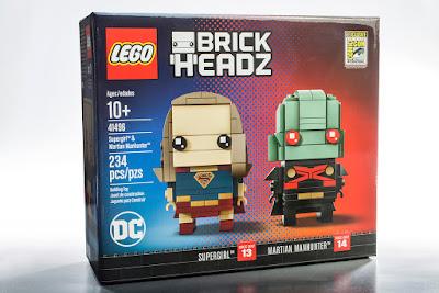 San Diego Comic-Con 2017 Exclusive Supergirl & Martian Manhunter BrickHeadz Set by LEGO x DC Comics