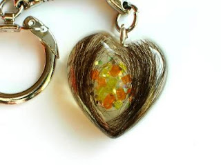 Colourful heart shaped pendant for hair