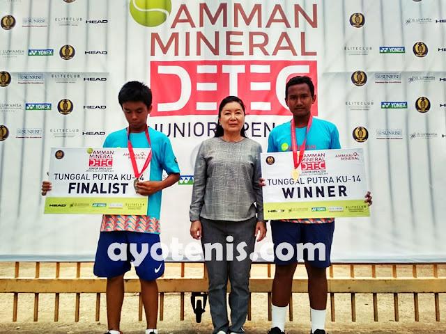 2 Pekan 2 Gelar Bergengsi, Jahfal Muna Kanahaya Calon Bintang Tenis Masa Depan Indonesia