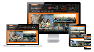 Glossy mag blogger template free download