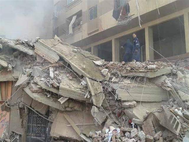 انهيار منزل مكون من طابقين دون وقوع إصابات بسوهاج