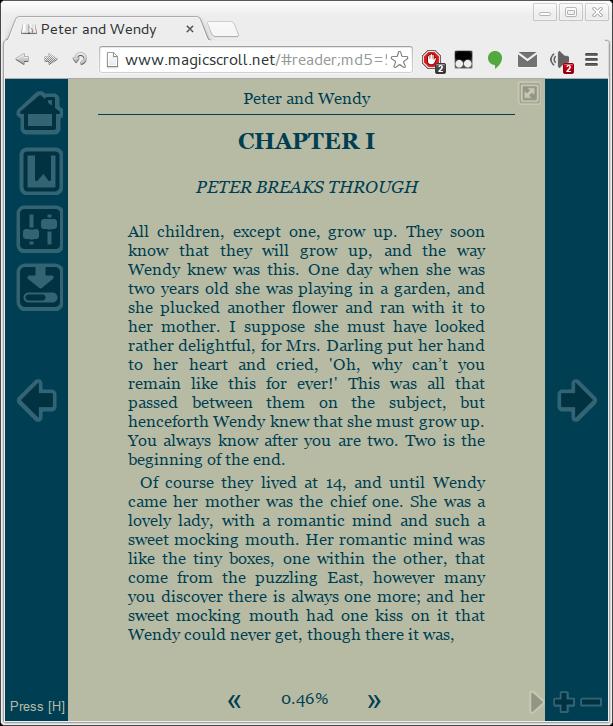 USE Google Chrome as Ebook Reader - Magic Scroll extension