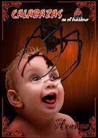 """Portada del libro """"Calabazas en el trastero: Arañas"""", de Varios Autores"""