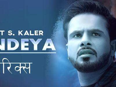 Bandeya Lyrics - Gurjot S Kaler