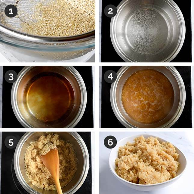 Step by step photos of how to cook quinoa