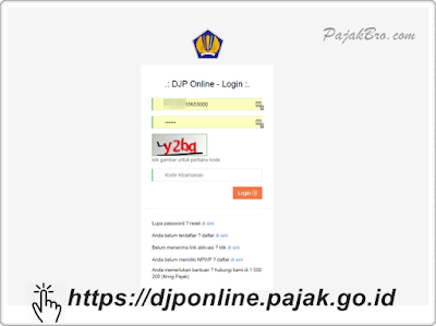 Password DJP Online Berapa Digit