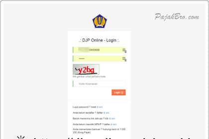 Password DJP Online Berapa Digit?