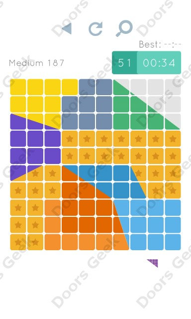 Cheats, Walkthrough for Blocks and Shapes Medium Level 187