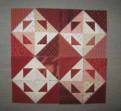 playing with blocks for Quilters Madder