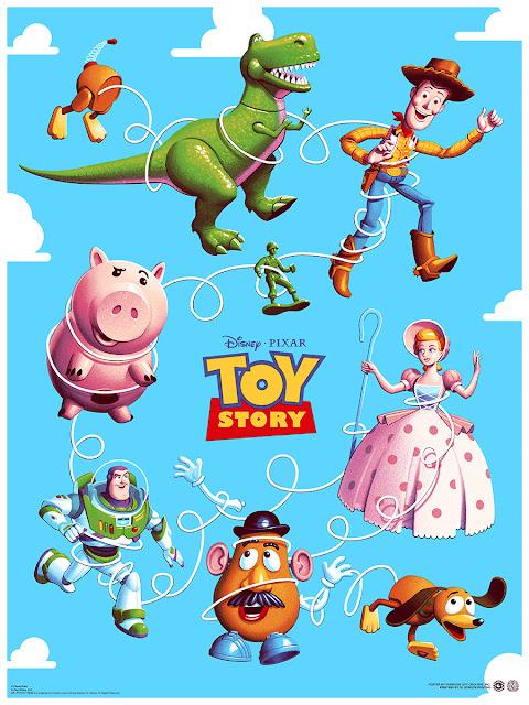 Toy Story Mondo poster by Phantom City Creative