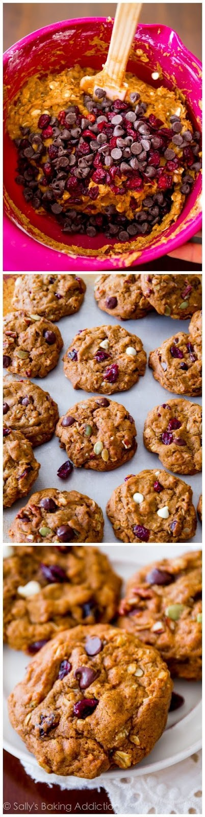Soft-Baked Pumpkin Oatmeal Cookies