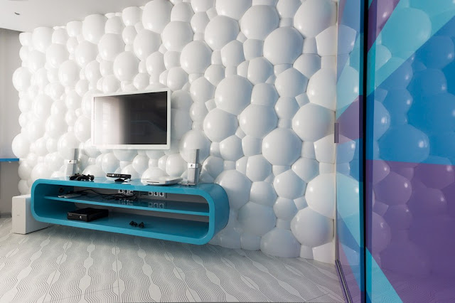 Living Room Bubbly 3D Wall Panels Made Of PVC For Living Room Wall Decor
