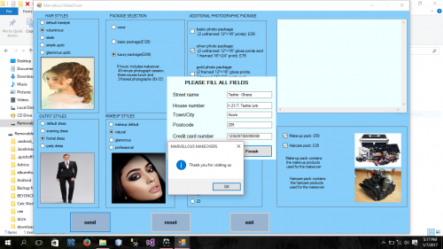 Source Code Visual Basic.Net 2017 Beauty Salon System- Marvellous Makeovers berga Version 2.3