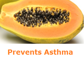 Health Benefits of Papaya - Paw paw Prevents Asthma