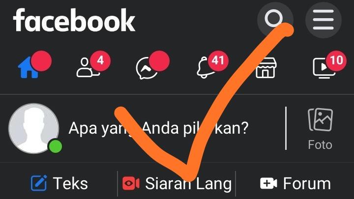 Langsung masuk Facebook tanpa kata sandi lama