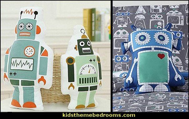 Robot Throw Pillows