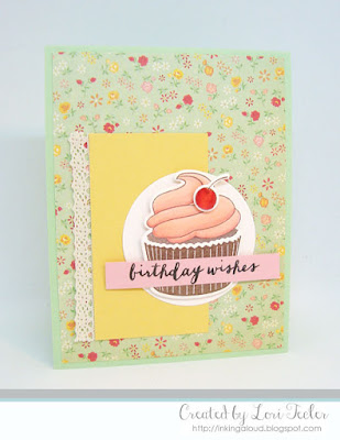 Birthday Wishes card-designed by Lori Tecler/Inking Aloud-stamps and dies from Avery Elle
