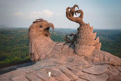 Ini dia patung burung tertinggi di dunia setinggi 61 meter.