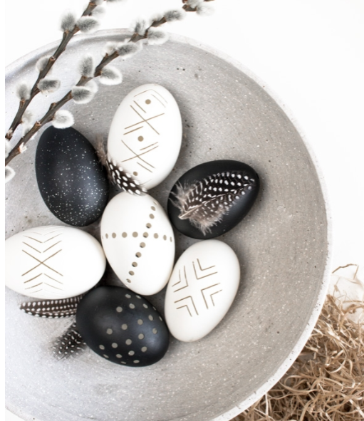 use a dremel to make decorative egg designs
