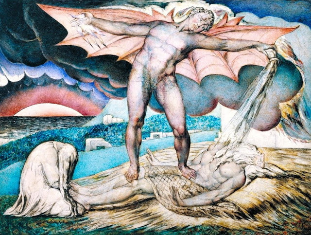 Satan Smiting Job with Sore Boils (1826) - William Blake