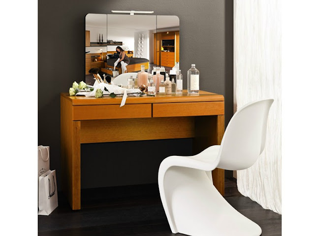 wooden dressing table design