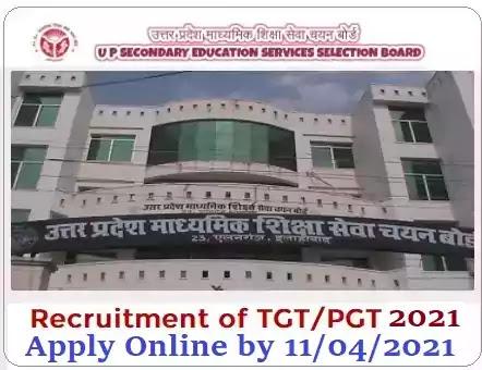 Teacher Vacancy Recruitment by UPSESSB UPMSSCB 2021