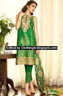 Faraz Manan Crescent Lawn Eid Luxury Catalog