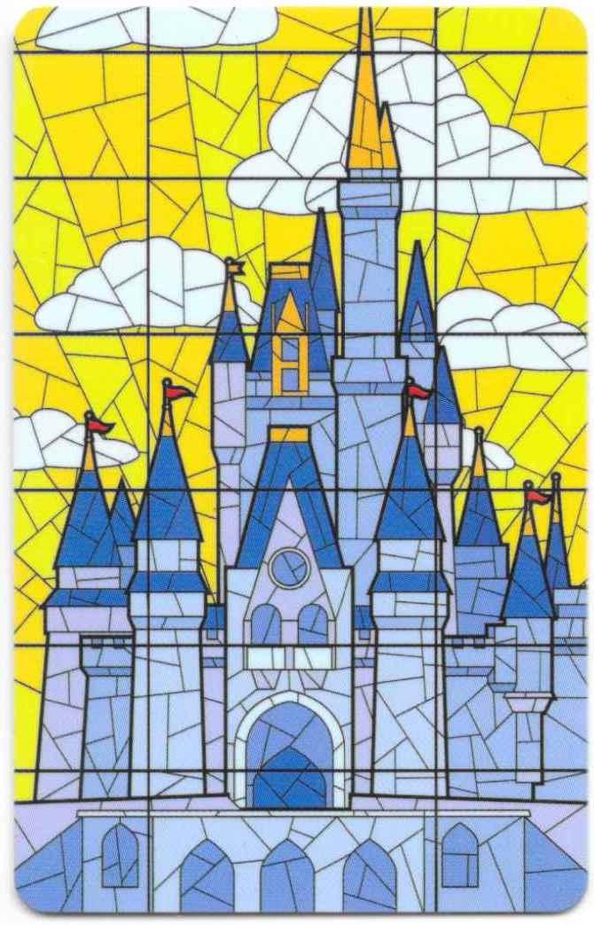 Cinderella Castle Stained Glass Walt Disney World Ticket