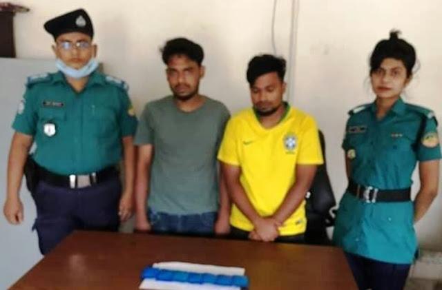 Tongi Gazipur Two arrested with yaba