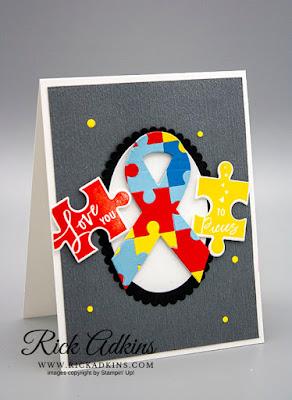 Autism Awareness, Love You To Pieces, Rick Adkins, Stampin' Up!