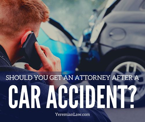 When to Get an Attorney for a Car Accident Image
