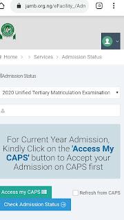 Jamb caps admission
