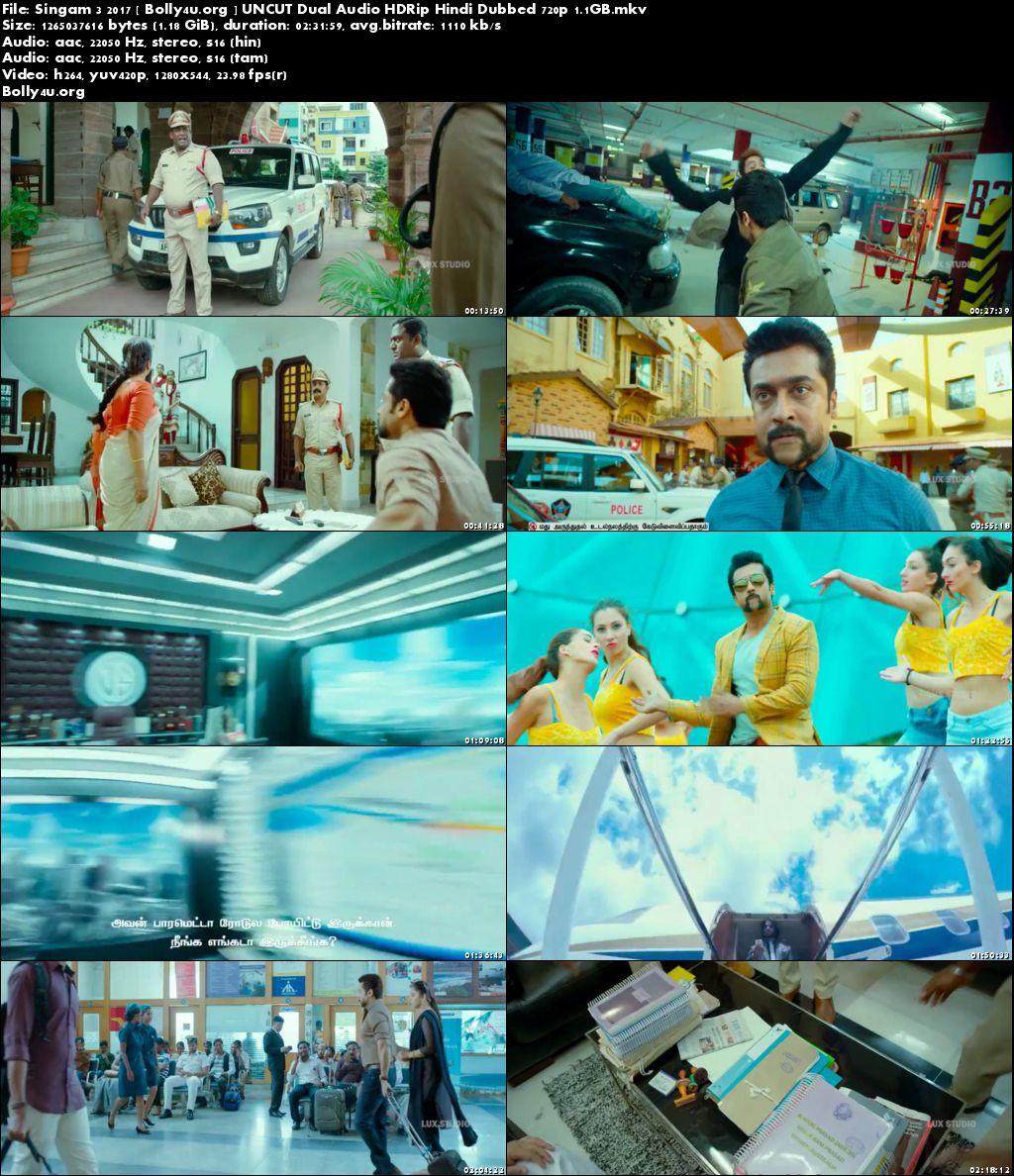 Singam 3 2017 HDRip UNCUT Hindi Dual Audio 720p Download