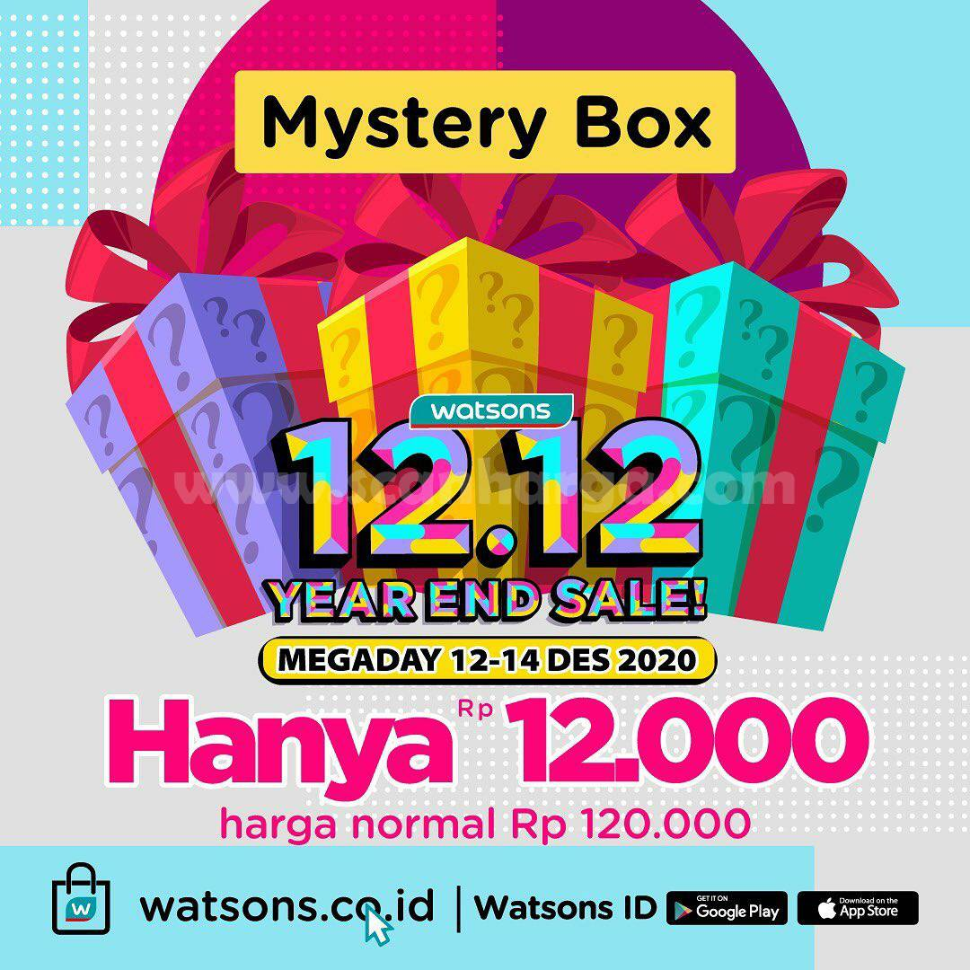 Watsons Promo Mega Day 12.12 Year End Sale – Mystery Box hanya Rp 12.000