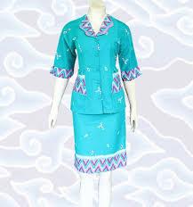 Model Baju Batik Kerja Perempuan Terbaru