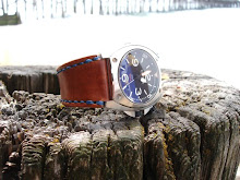 BR02 on 'Hero' strap 0 British Tan and Royal Blue linen