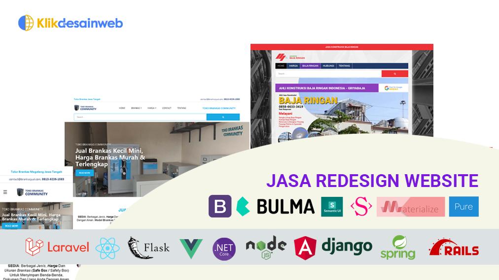 redesign web,jasa redesign website,jasa desain ulang website