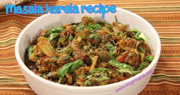 Delicious and healthy masala karela recipe with onion